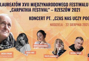 """Transmisja online: Koncert Laureatów i Koncert pt. """"Czas nas uczy pogody"""" - """"Carpathia Festival""""/Rzeszów"""
